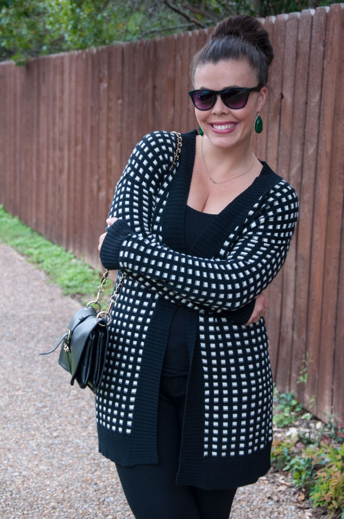 All That Glitters: Black and white sweater