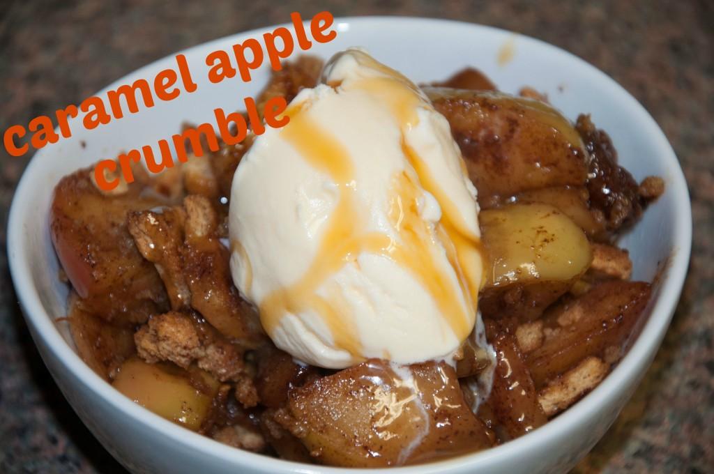 Caramel Apple Crumble