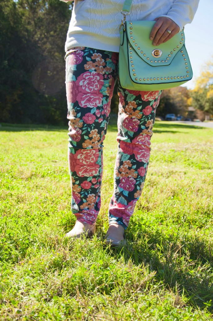Floral pants and mint