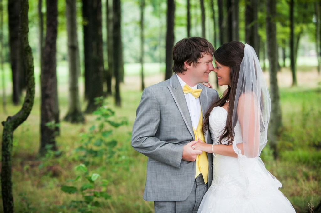 Grey and yello wedding