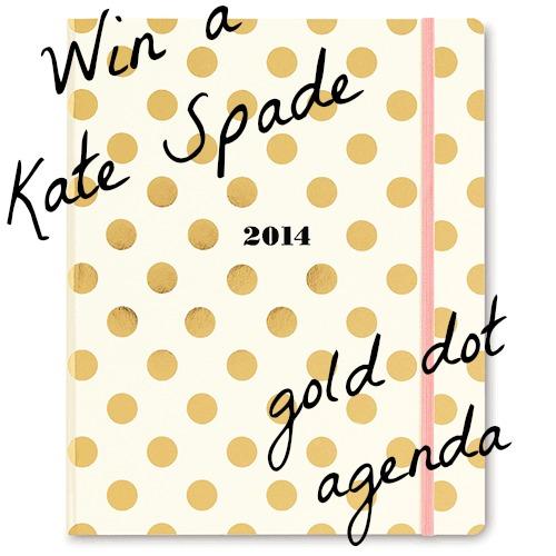 Win A Kate Spade Gold Dots Agenda