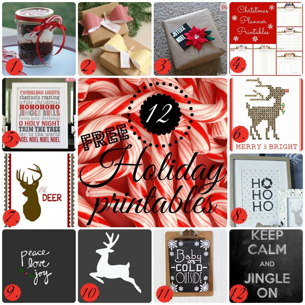 12 Holiday Printables