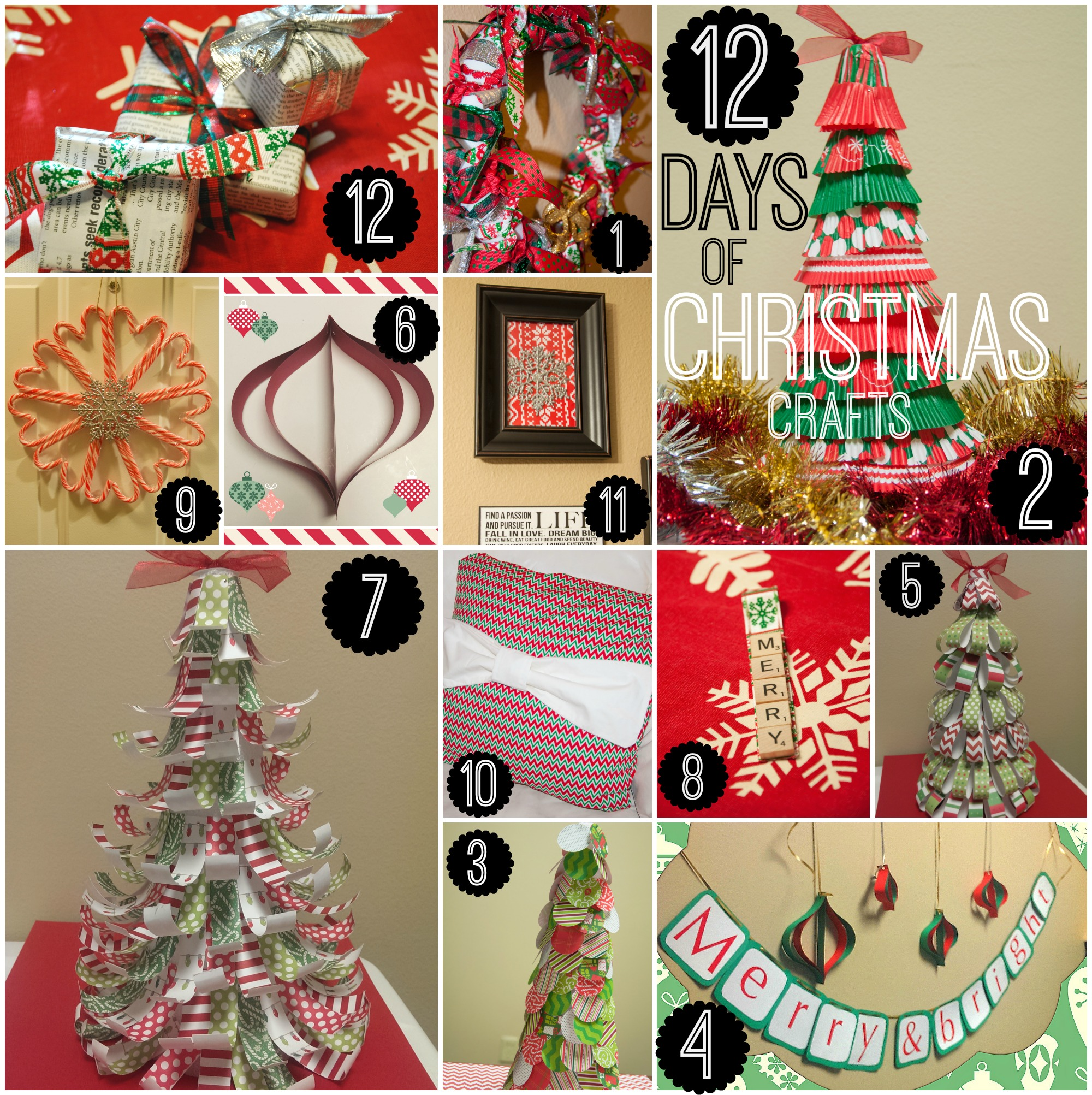 12 Days Of Christmas Craft Ideas Part - 23: Photo Collage Craft Ideas - All 12 Days Christmas Crafts