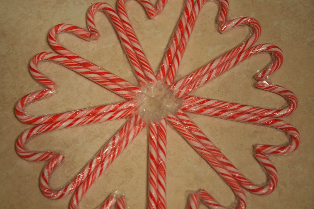 Candy Cane Snowflakes DIY