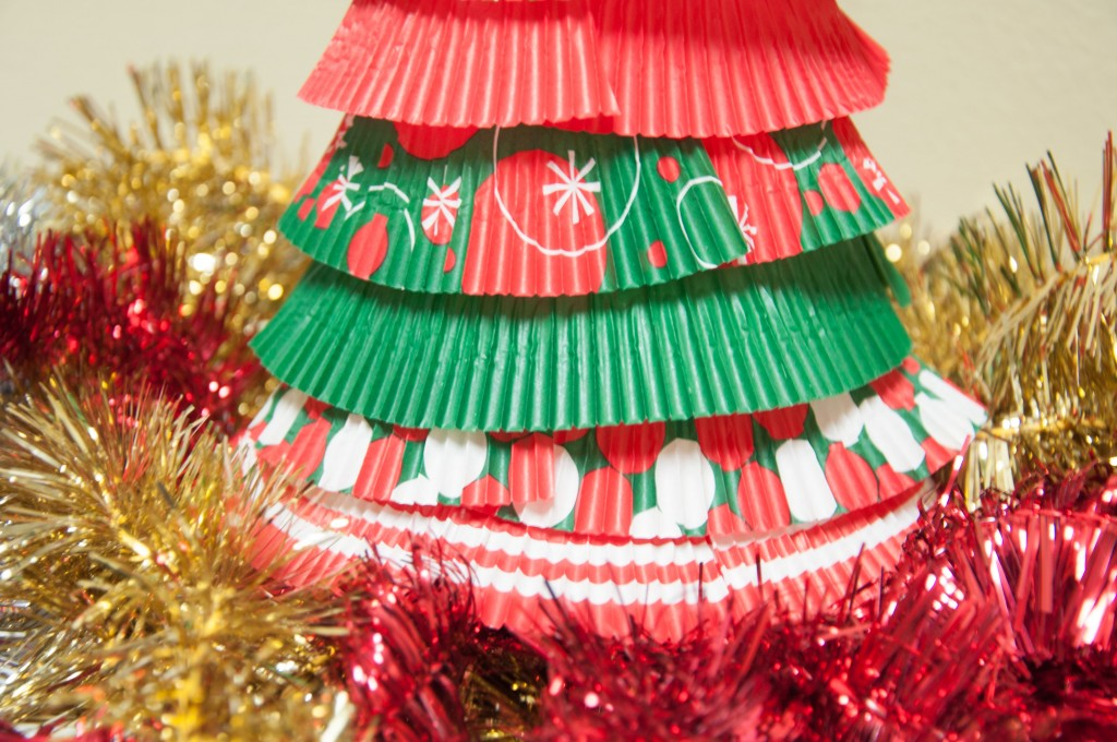 Cupcake liner Christmas Tree Base
