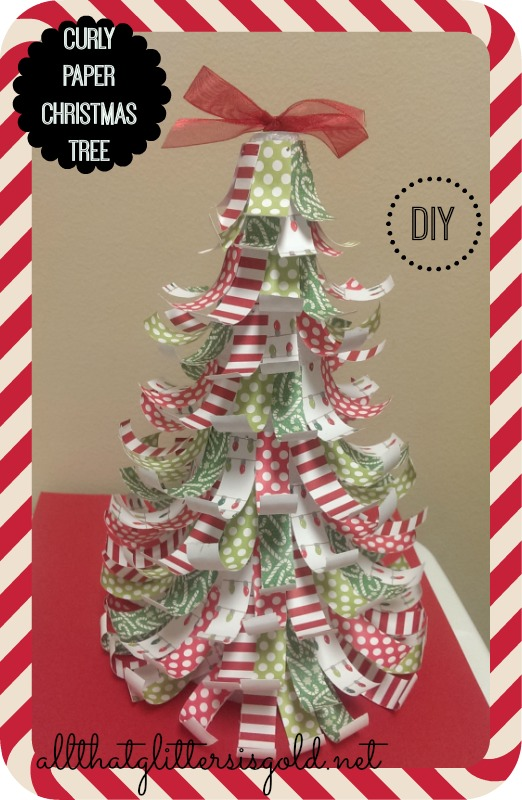 Curly Paper Christmas Tree