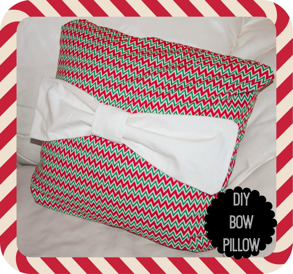 DIY Christmas Bow Pillow