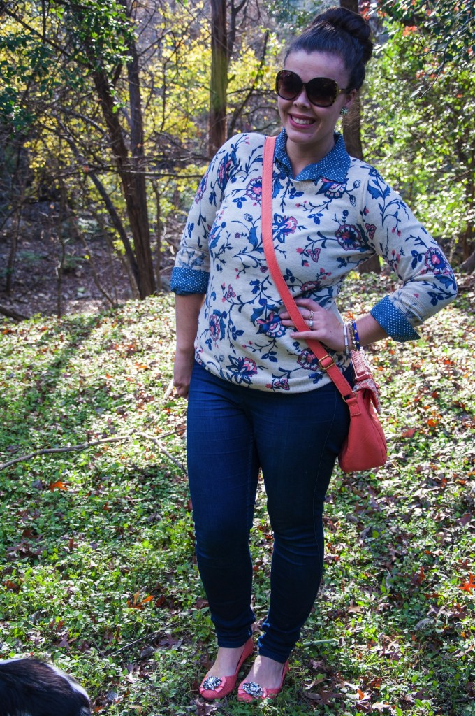 Denim and Floral: Pattern Mixing