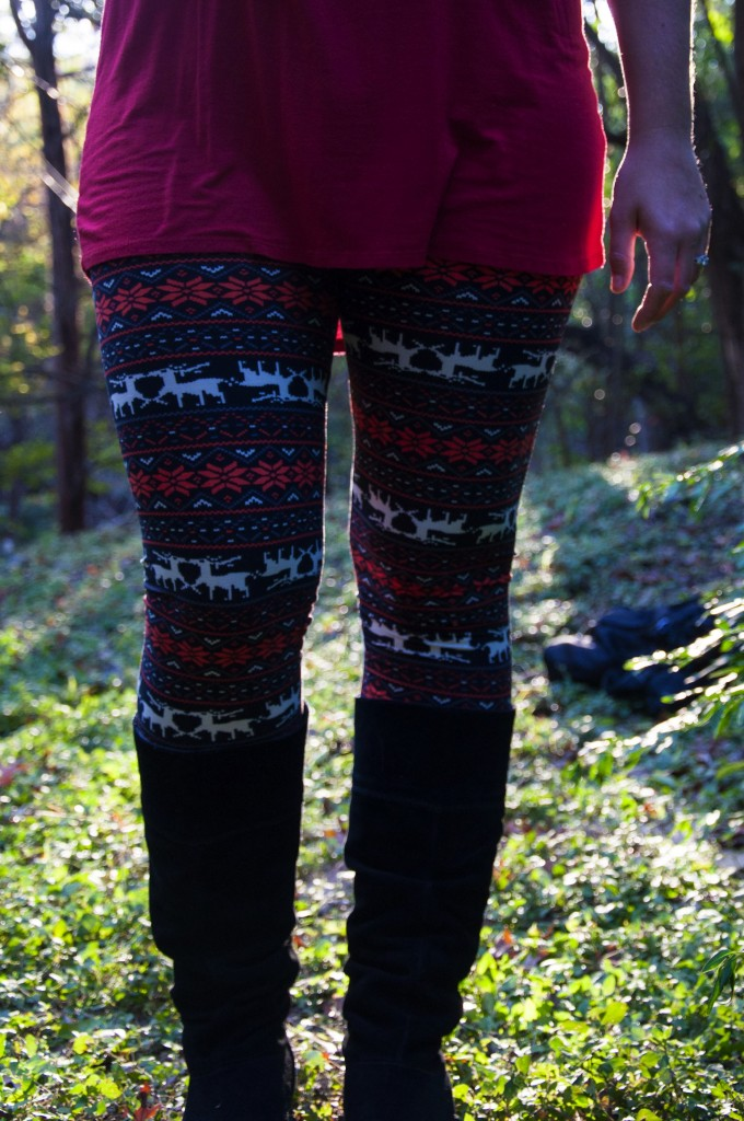 Oh Deer Printed Leggings2