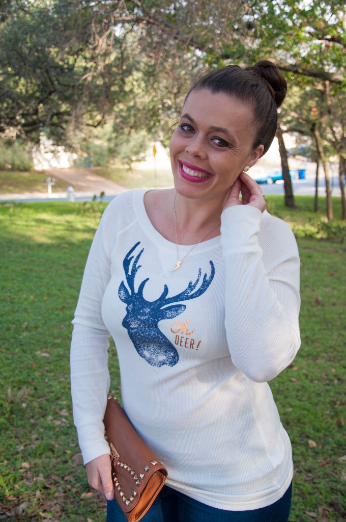 Oh Deer Shirt and Jeans
