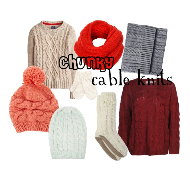Chunky Cable Knit Fashion