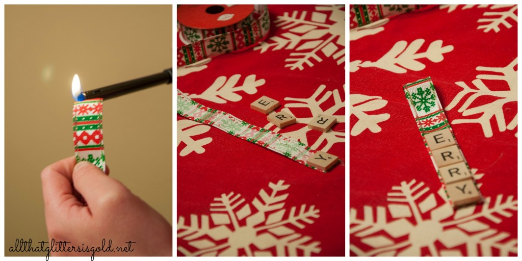 Step by Step Scrabble Ornament Instructions
