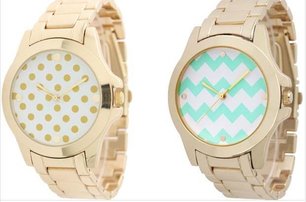Chevron Polka Dot Watch