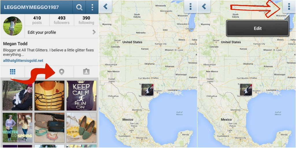 Instagram Photo map Geotags