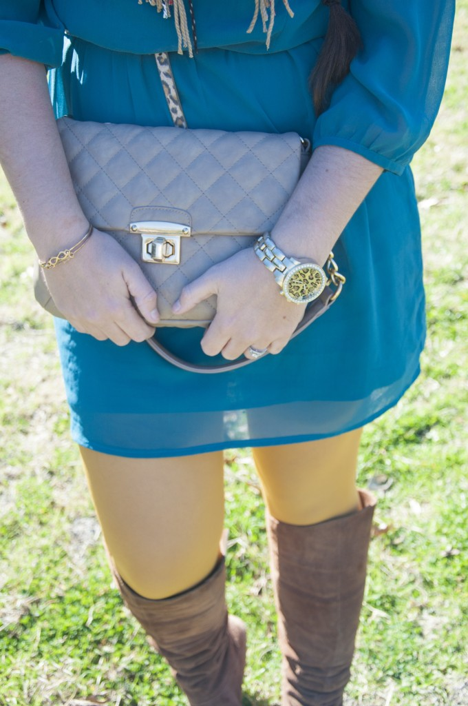 Teal and Mustard Outfit