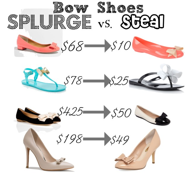 Bow shoes splurge vs steal