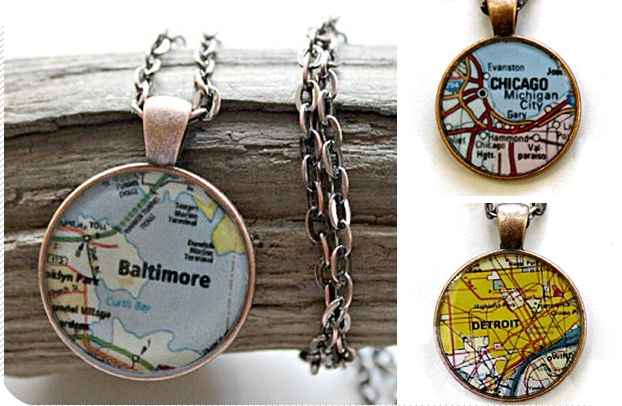 City Map Necklaces