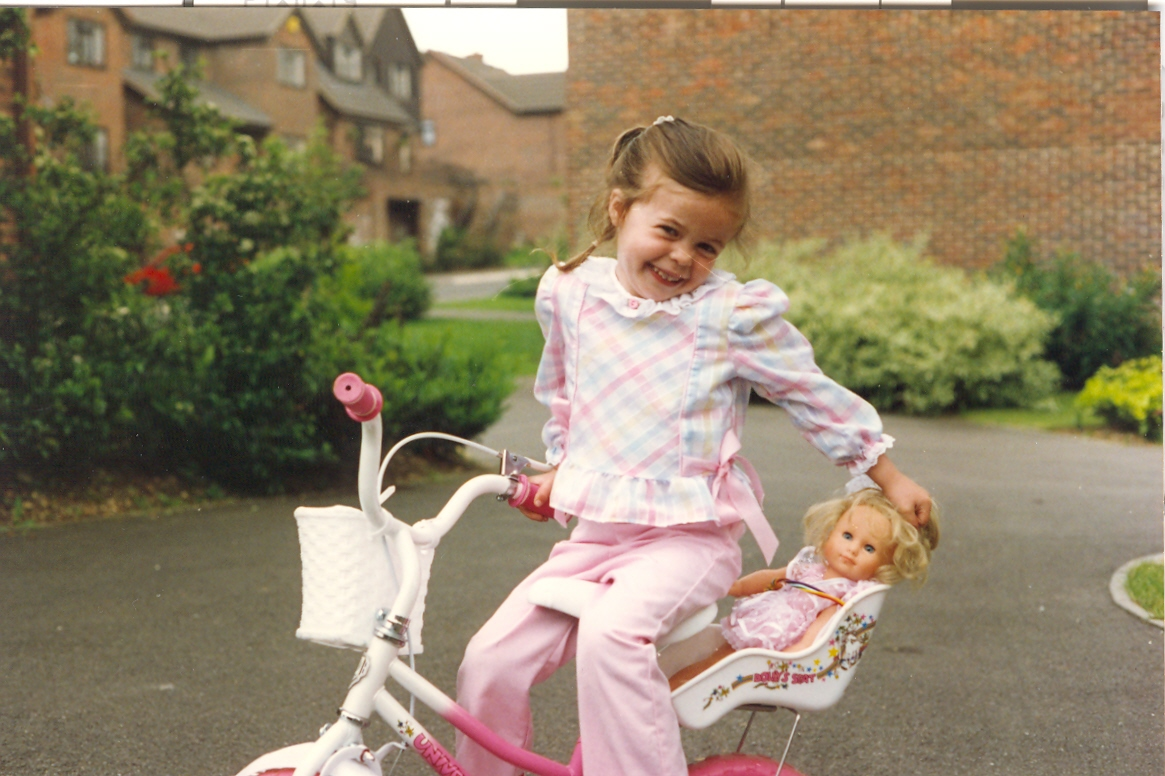 Little girl's first bike