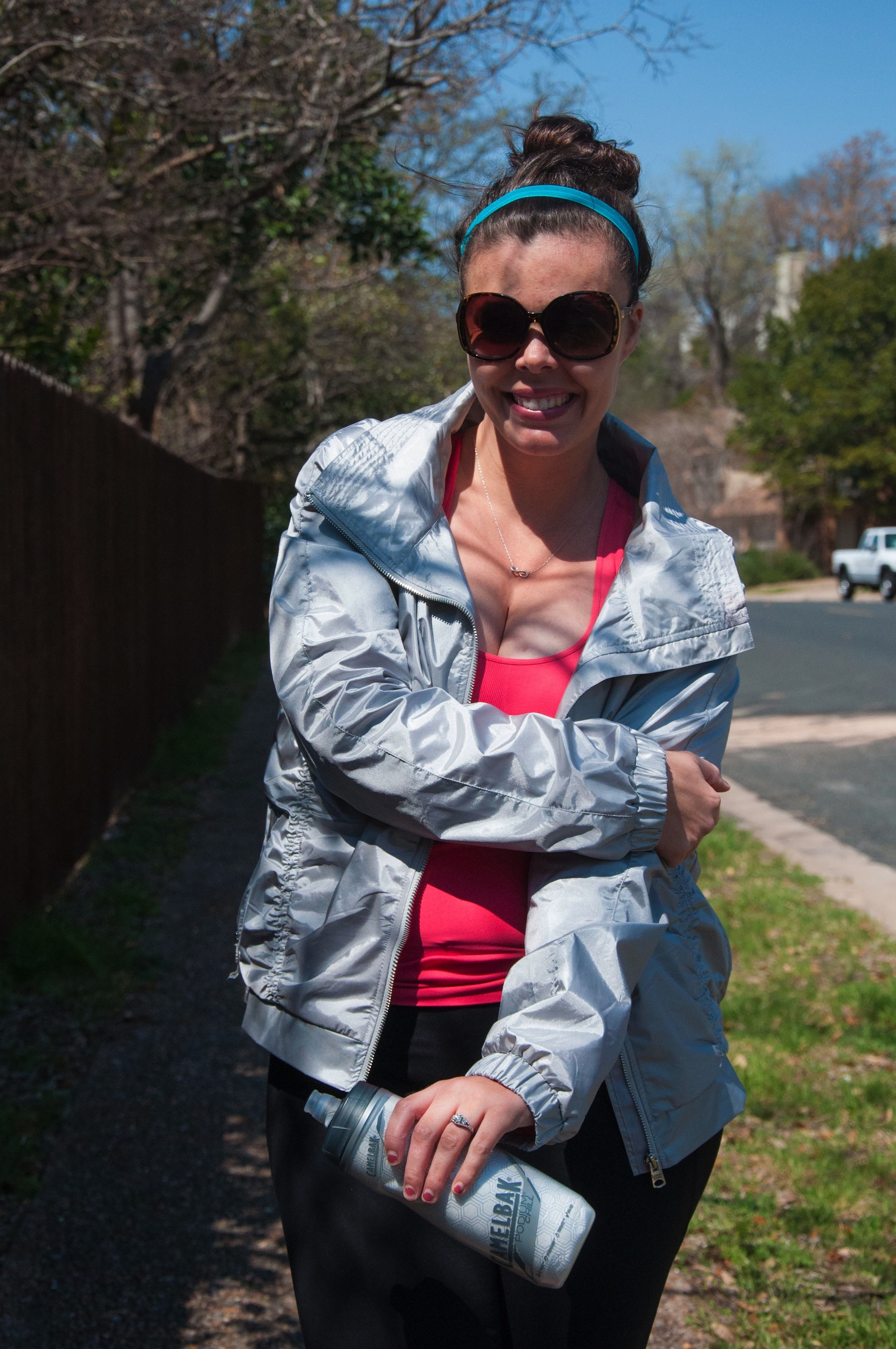 Lorna Jane silver reflective jacket
