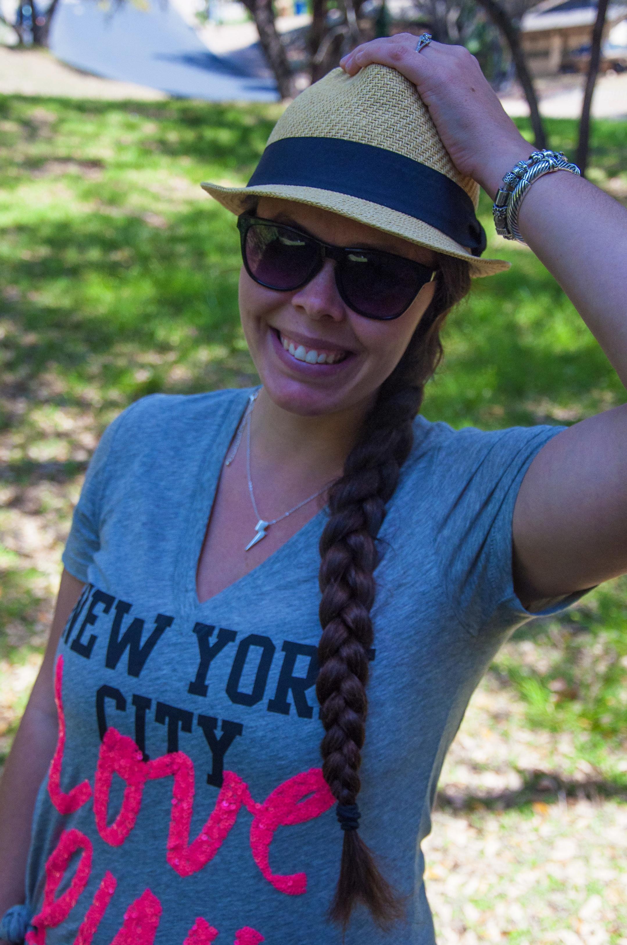 NYC tee and a fedora