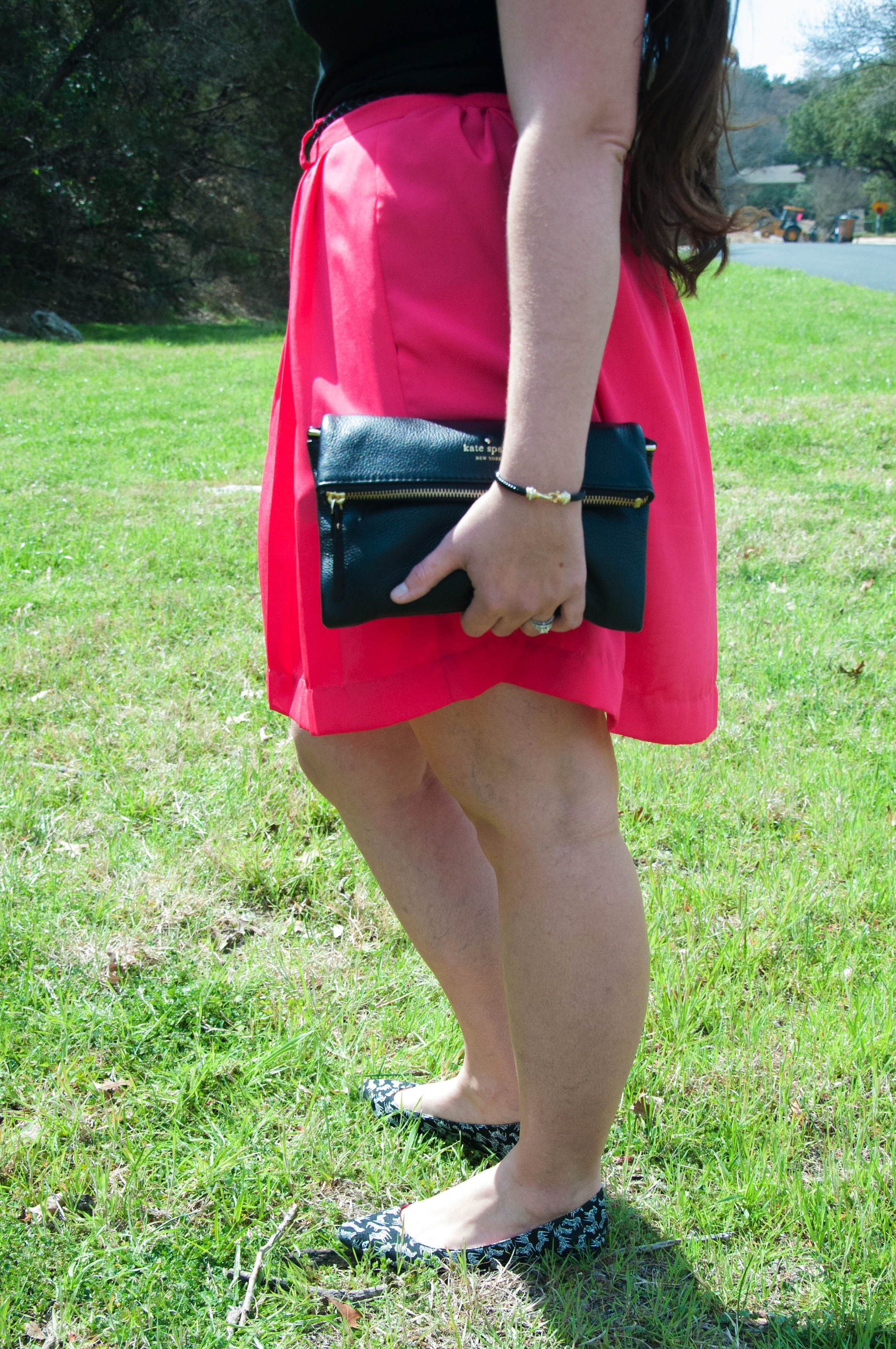 Pink skirt with Kate Spade