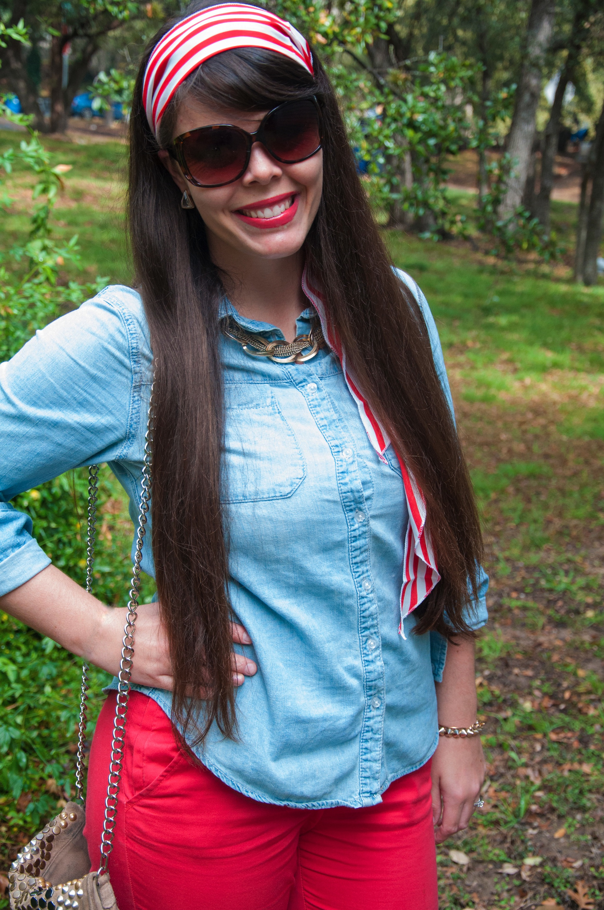 Red and Chambray