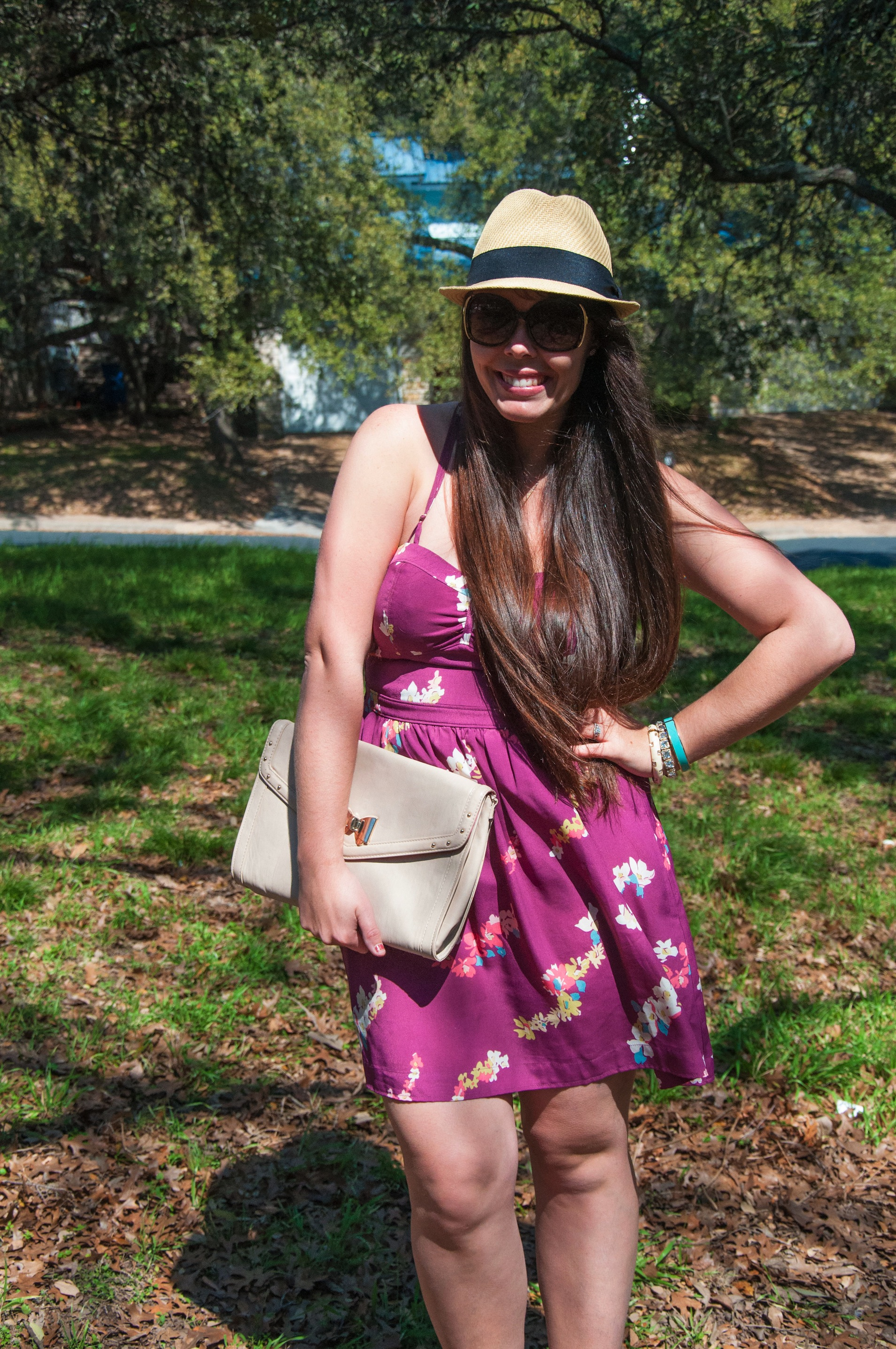 Sundress with a fedora