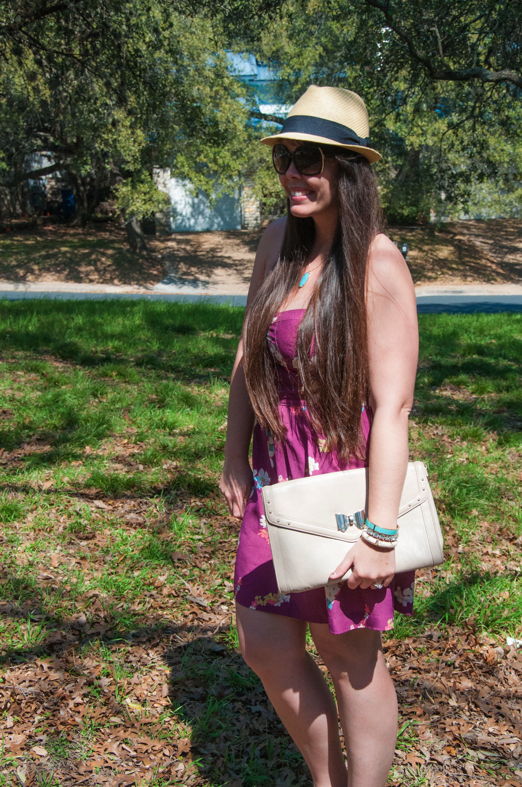 Sundress with nude accessories