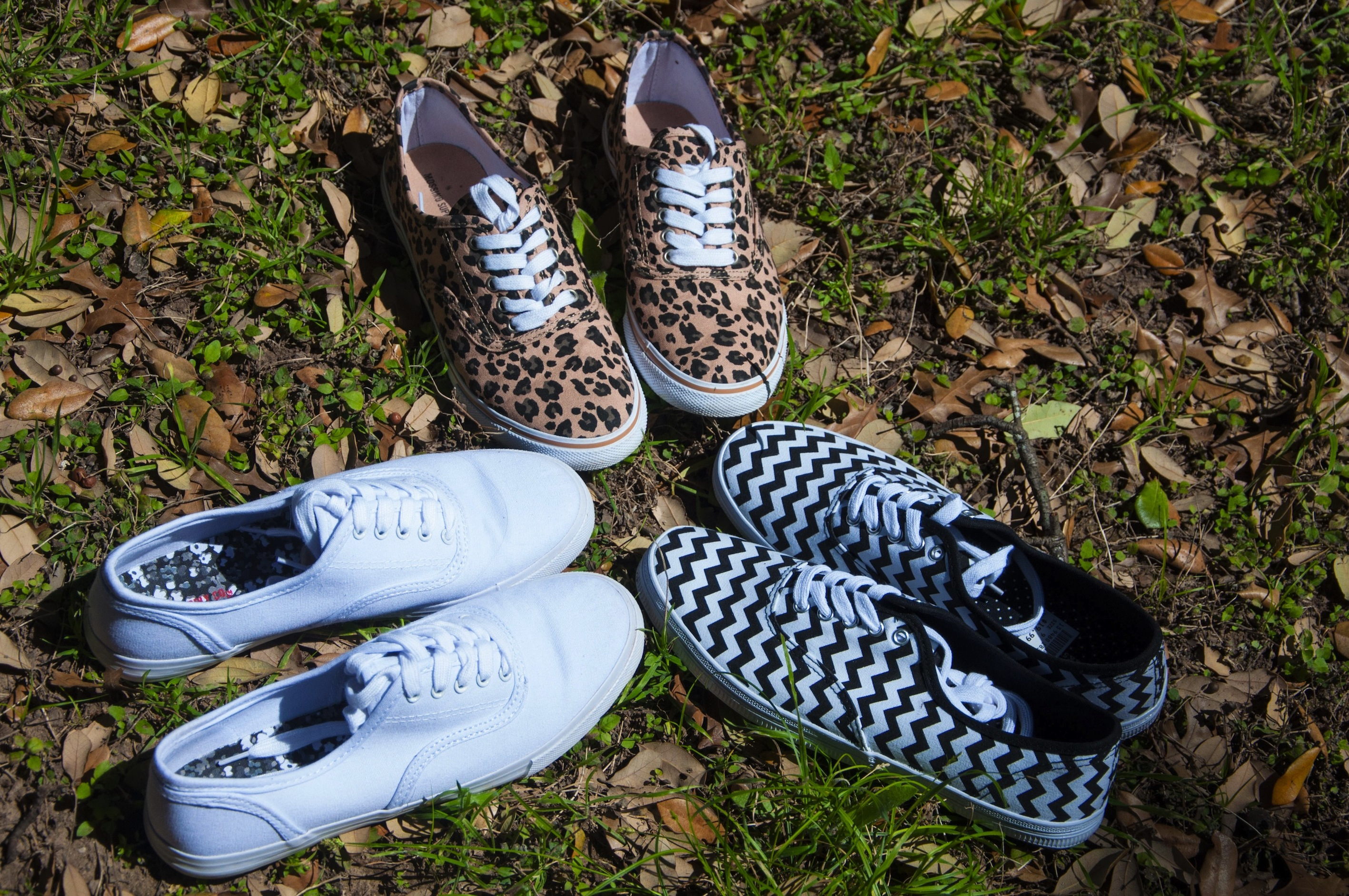 White Leopard and Chevron Keds