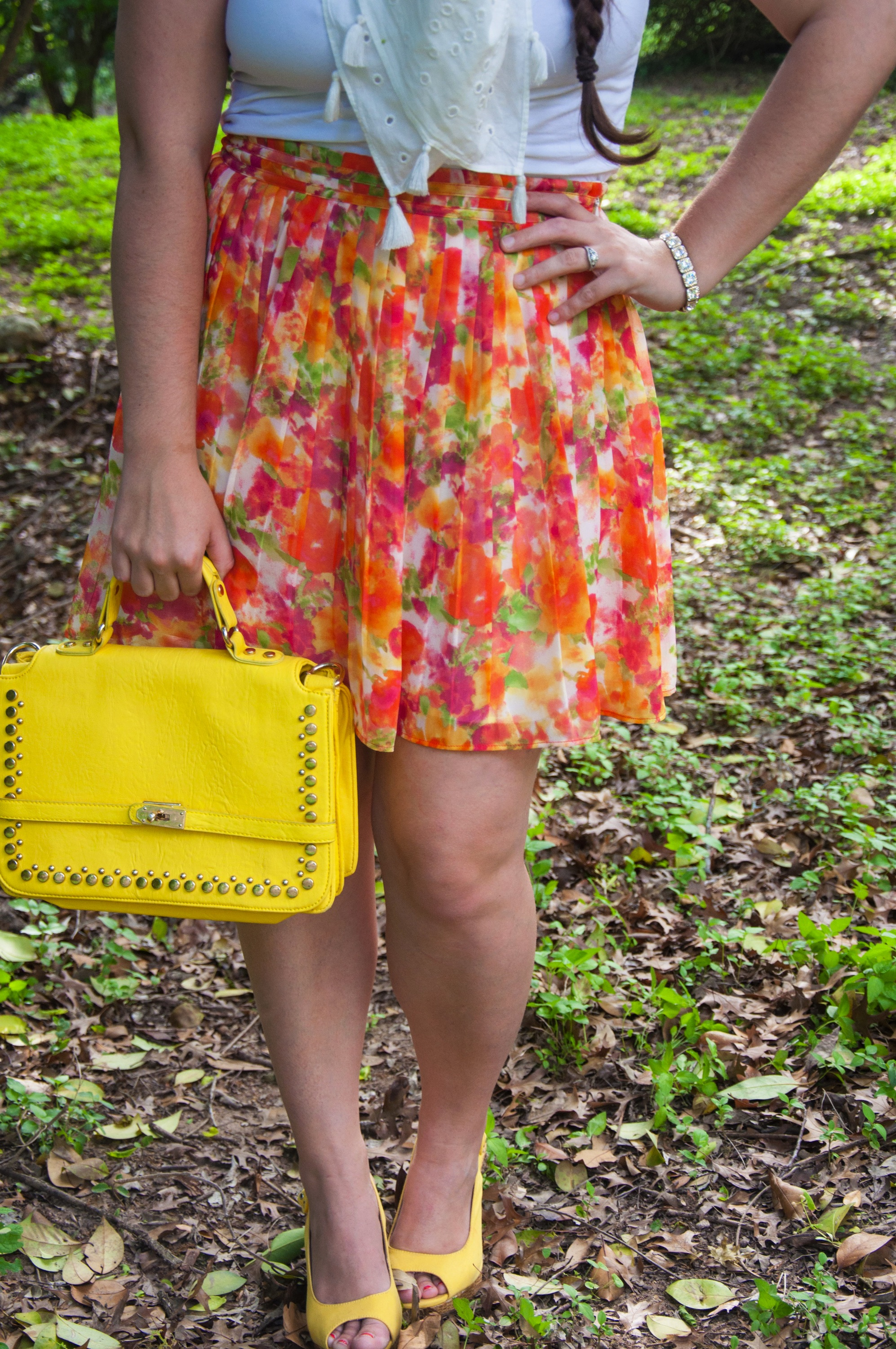 Floral and bright yellow