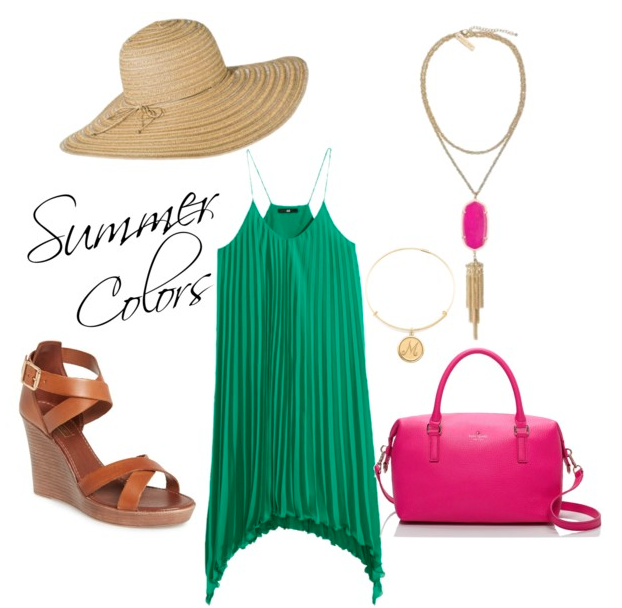 Summer Colors- Green and Magenta