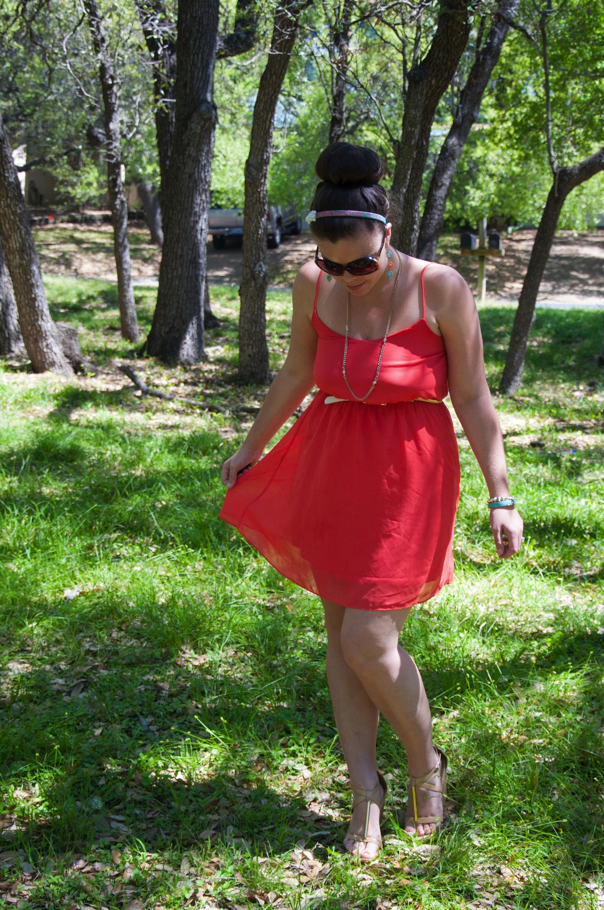 Sundress and wedges