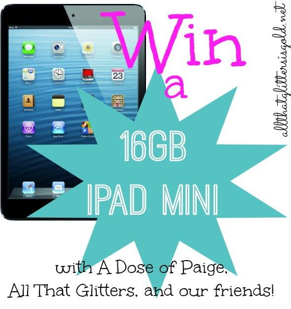 Win an iPad mini on AllThatGlittersIsGold.net