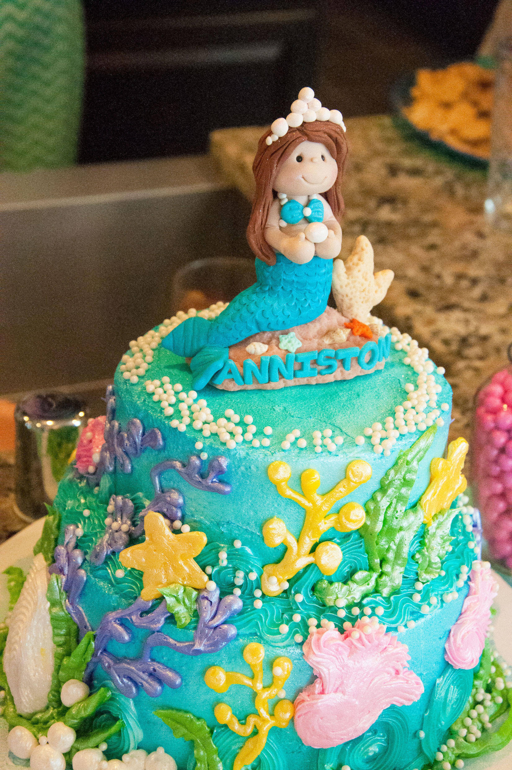 Childs mermaid birthday cake