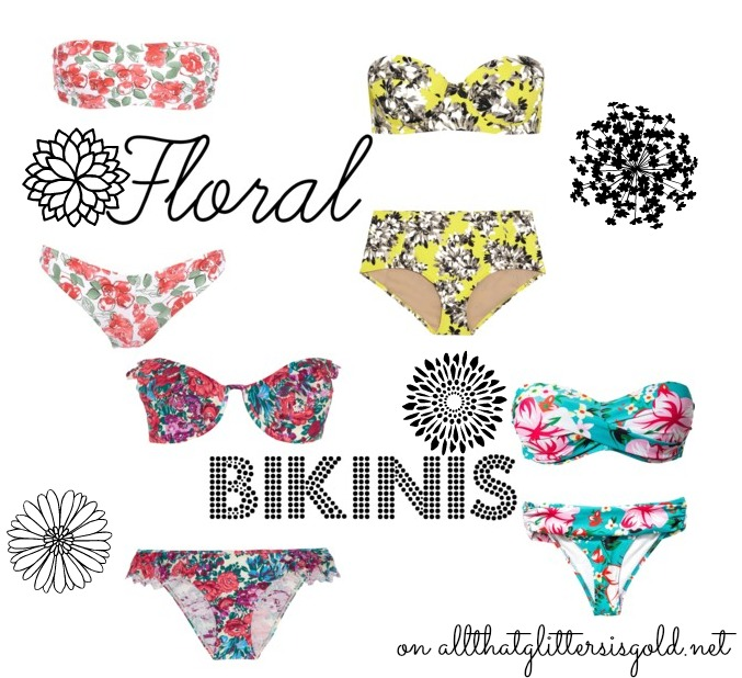 Floral Bikinis on All That Glitters Blog