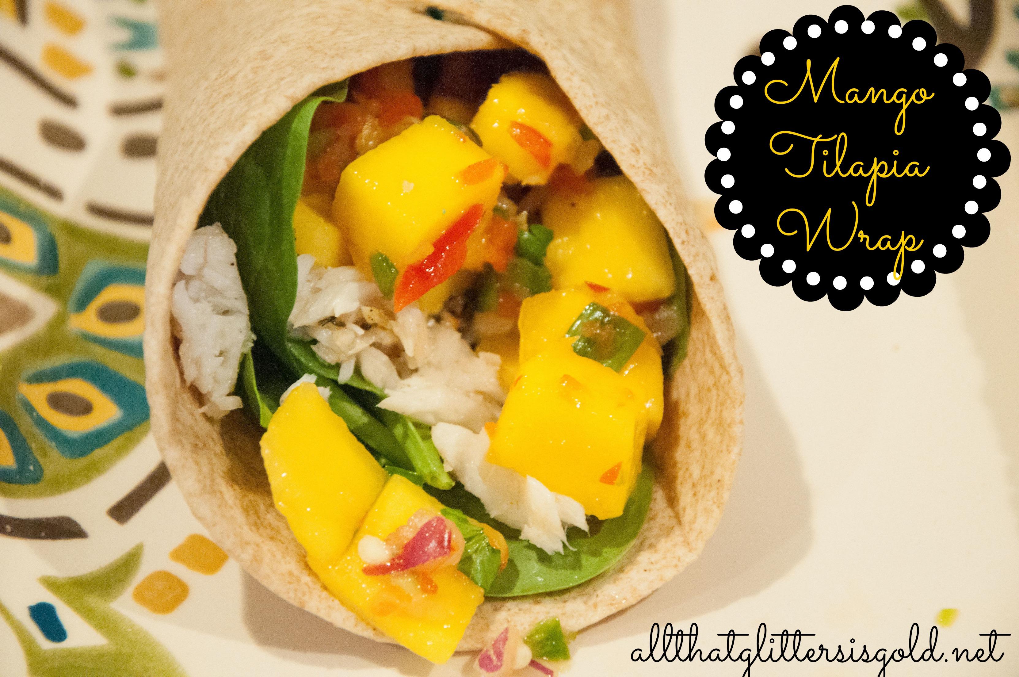 Mango Tilapia Wrap