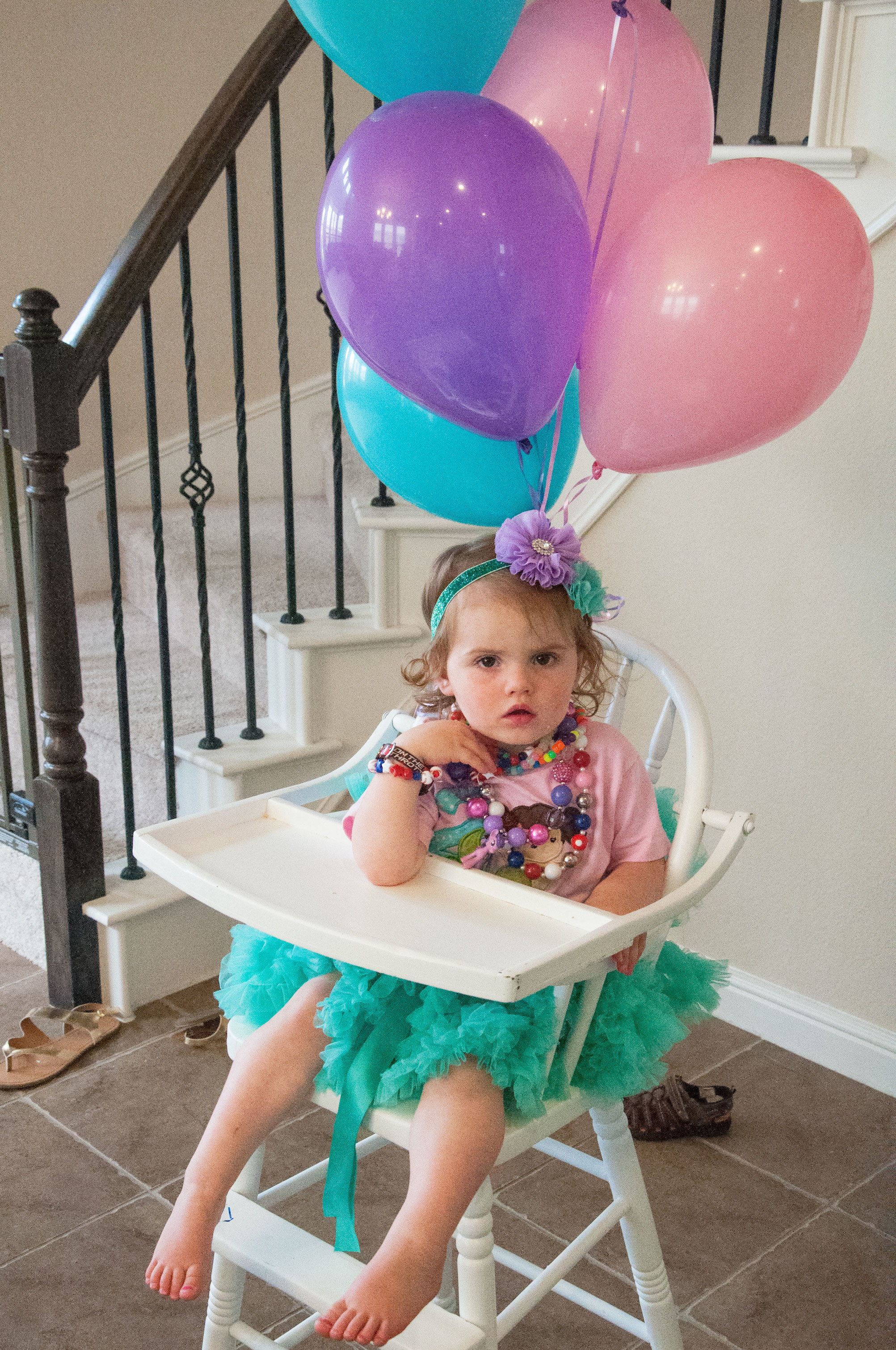 Mermaid shirt and balloons