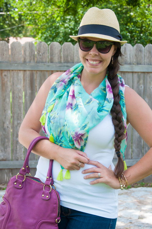 Mint and purple with fedora