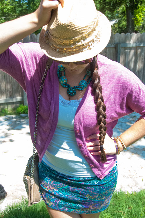 Purple and Teal in summer