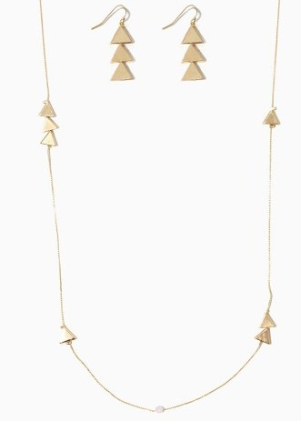 Triangle Necklace Set