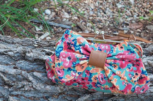 Floral Bow Clutch