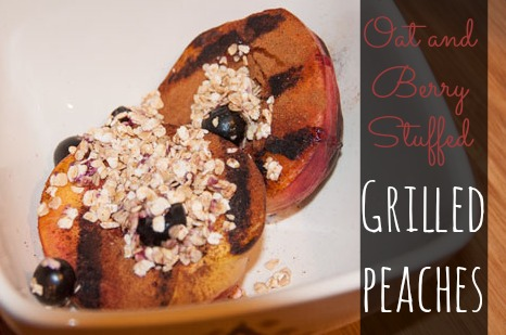 Grilled Peaches with Oats and Berries