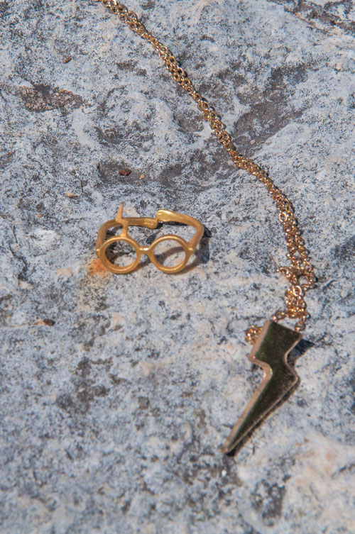 Harry Potter ring and necklace
