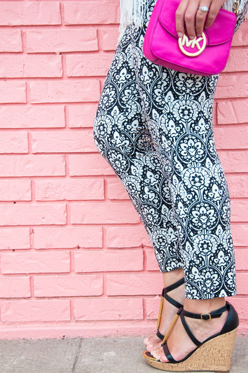 Black and white patterened Old Navy Pants
