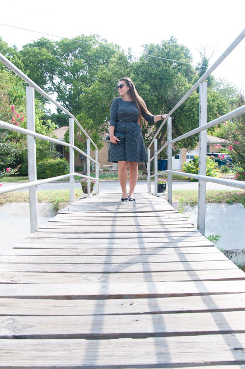 Black long sleeved dress- prefect for fall!