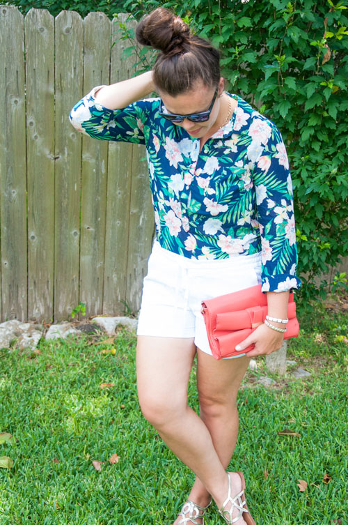 Button down and shorts