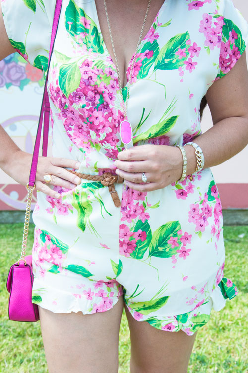 Floral Romper with Kendra Scott