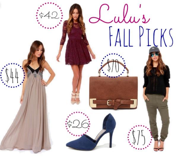 Lulu's Fall Picks