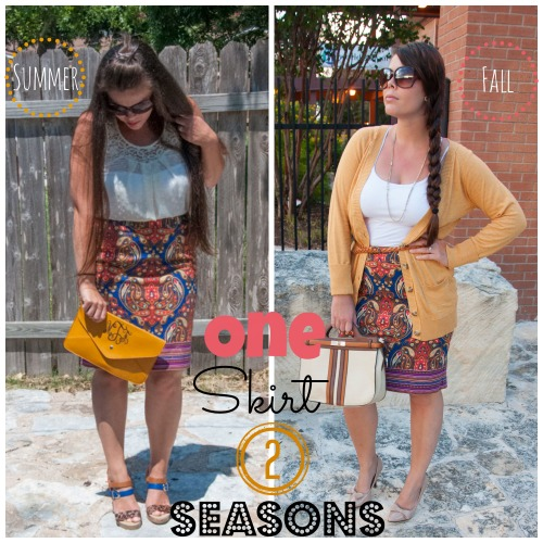 One Skirt Two Different Seasons