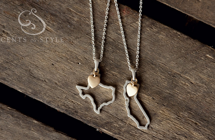 State cut out necklace- Texas